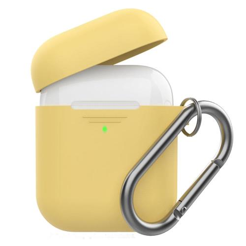 Silicon Case AhaStyle PT06-F Apple AirPods Premium with Hook Yellow