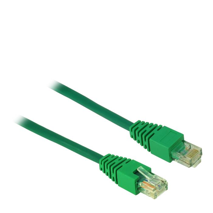 Cable UTP patch CAT5 1m Inter-Tech Green
