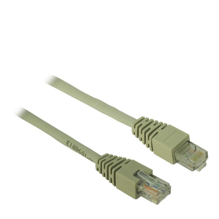 Cable UTP patch CAT5 1m Inter-Tech Grey