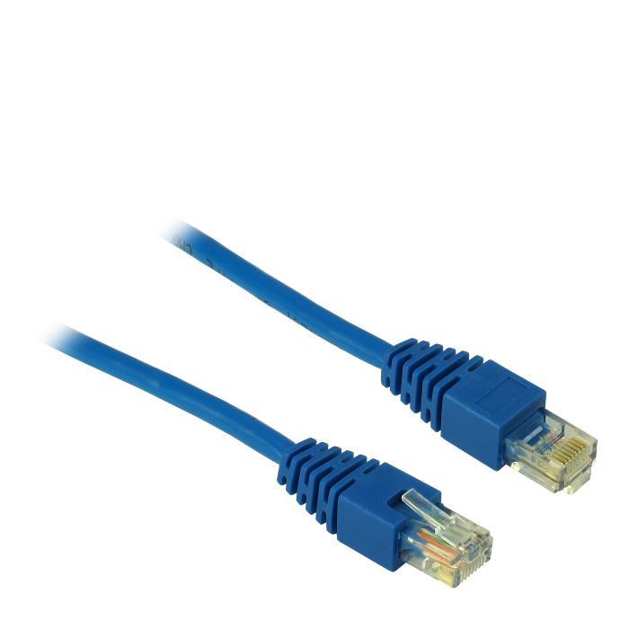 Cable UTP patch CAT5 3m Inter-Tech Blue