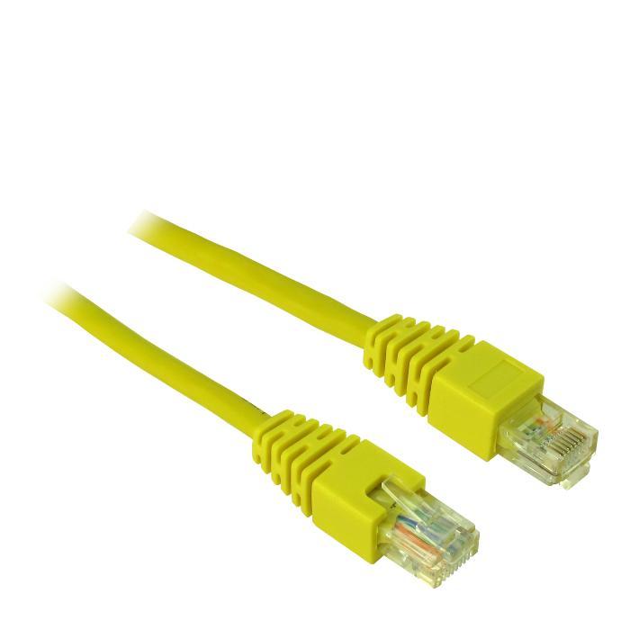 Cable UTP patch CAT5 2.5m Inter-Tech Υellow