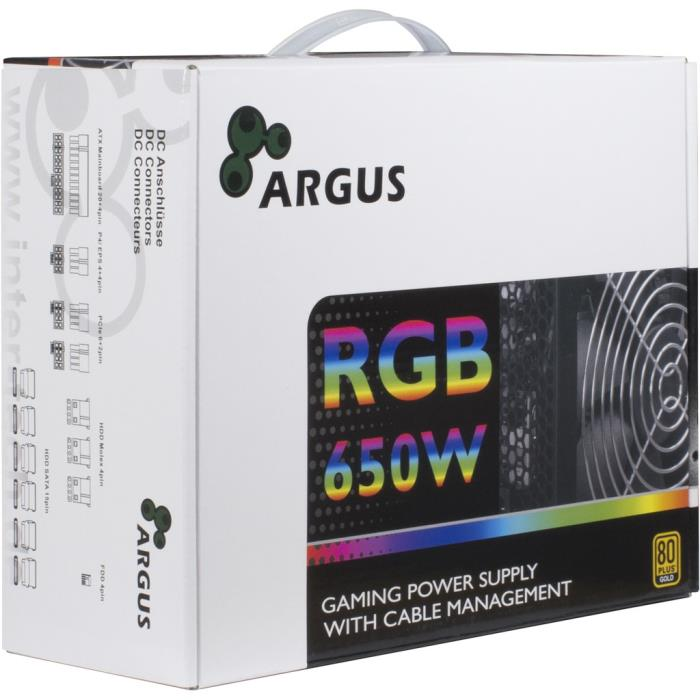 Psu ATX Inter-Tech  Argus RGB-650W 80+ Gold