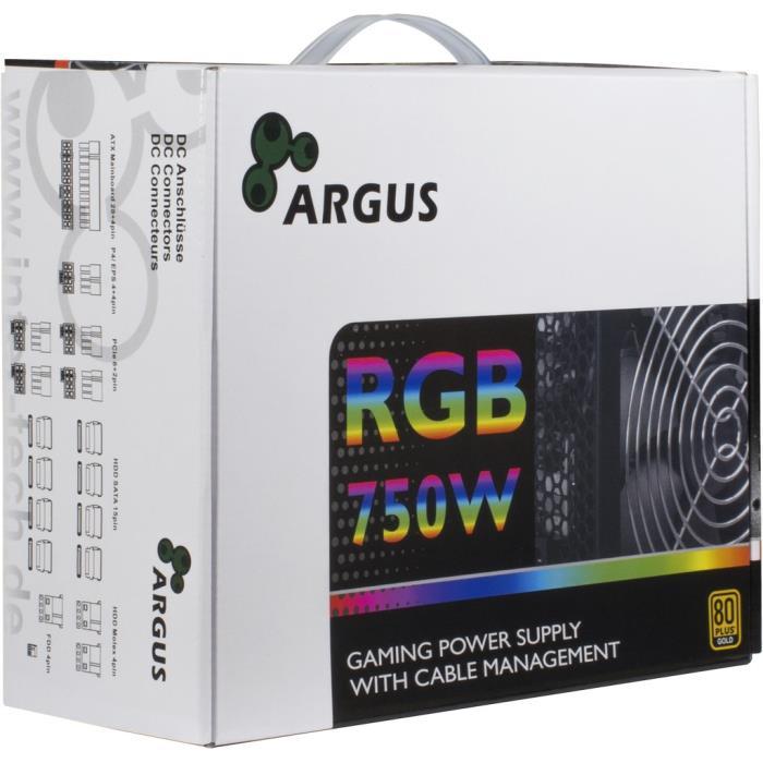 Psu ATX Inter-Tech  Argus RGB-750W 80+ Gold