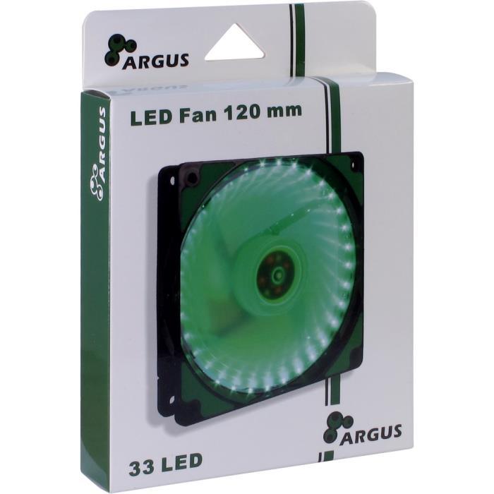 Case Cooler 12cm Argus L-12025 Green