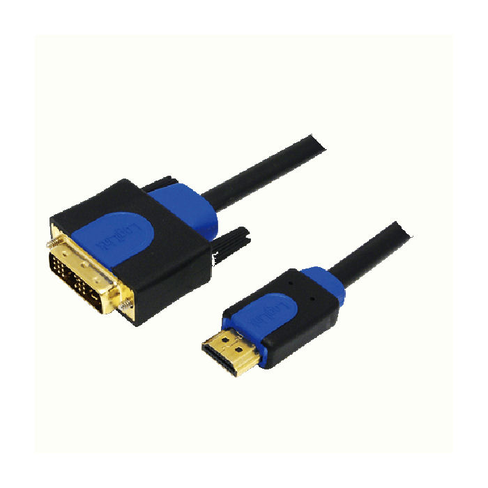 Cable HDMI/DVI Retail 1m Logilink CHB3101