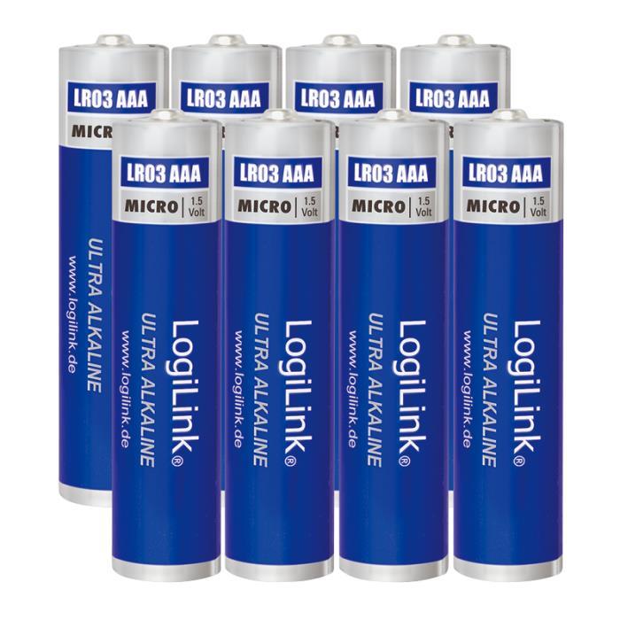 Battery AAA Alkaline Logilink LR03F8 8pcs