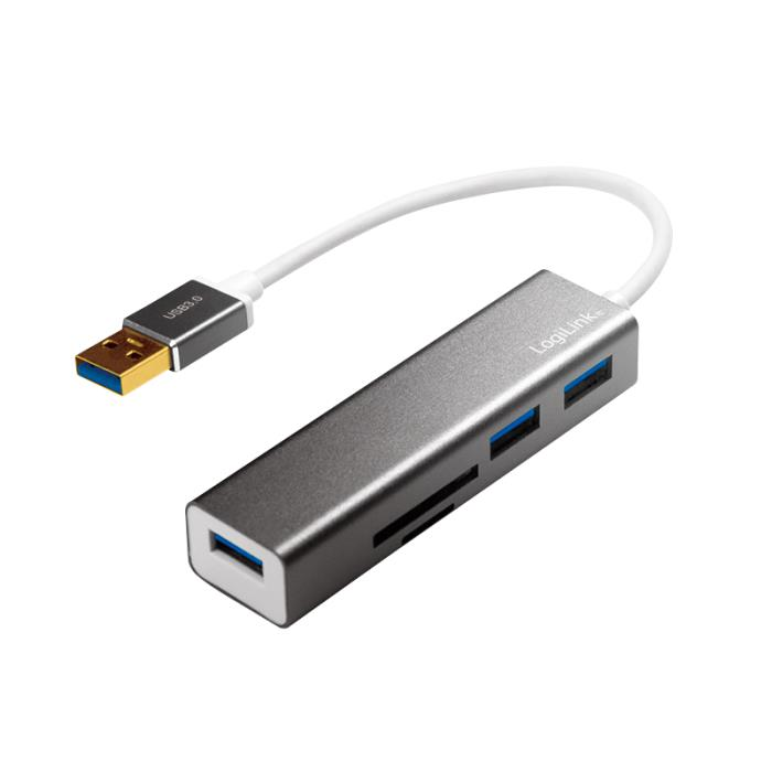 Hub USB 3.0 with Card Reader Logilink UA0306