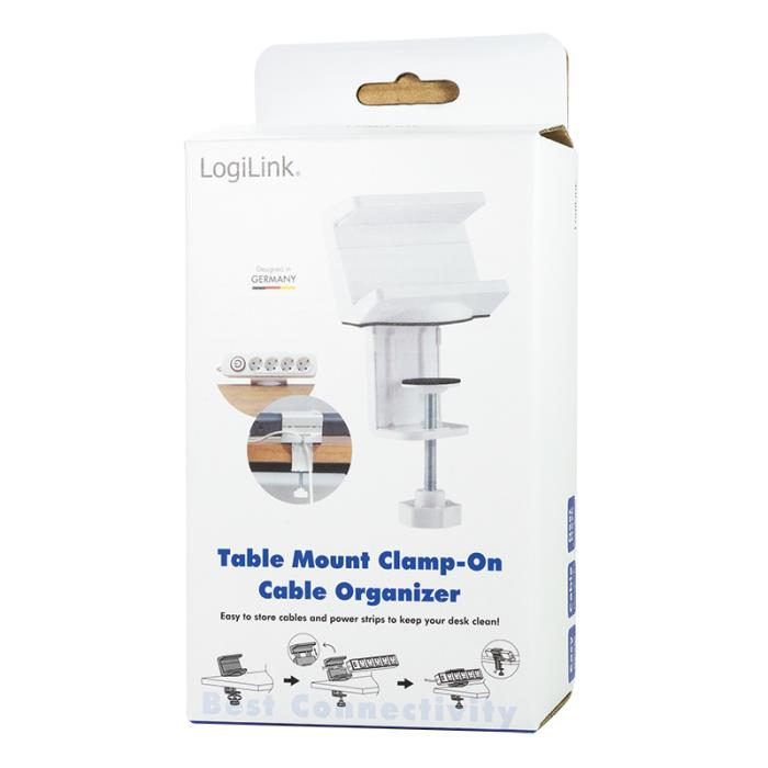 Table Mount Clamp-on Cable Organizer Logilink KAB0067