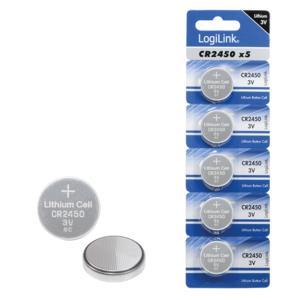 Battery Lithium Logilink CR2450 5pcs