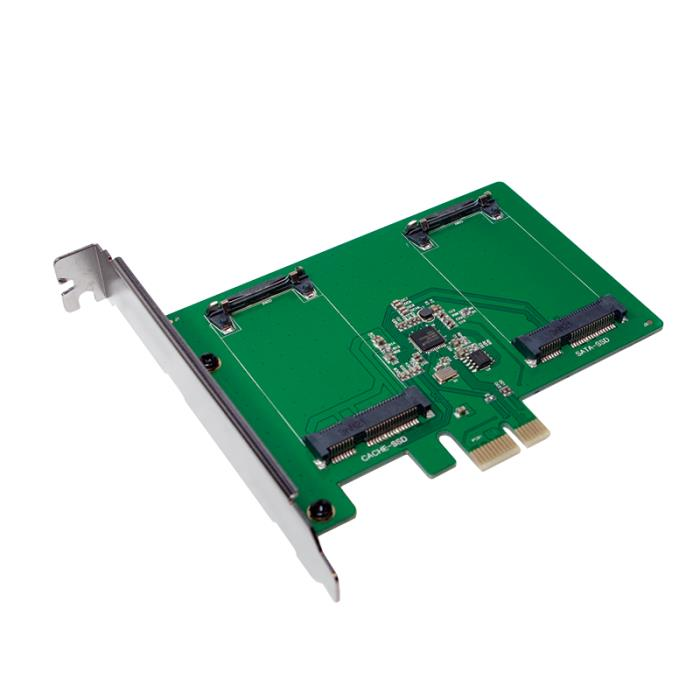 Pci Express to 2x mSATA SSD Logilink PC0078