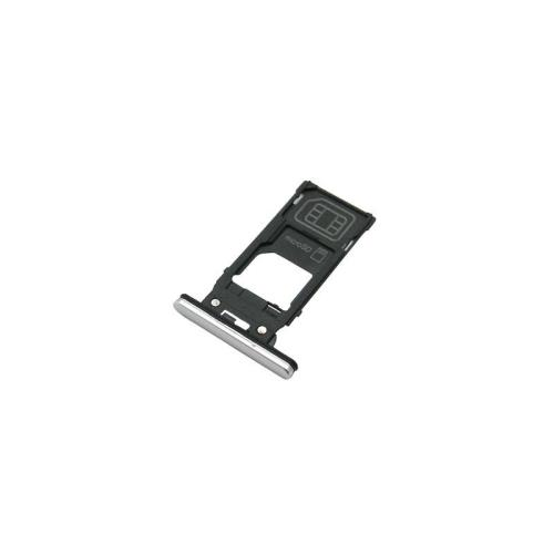 Sim & SD Card Holder Sony Xperia XZ2 Silver (Original)