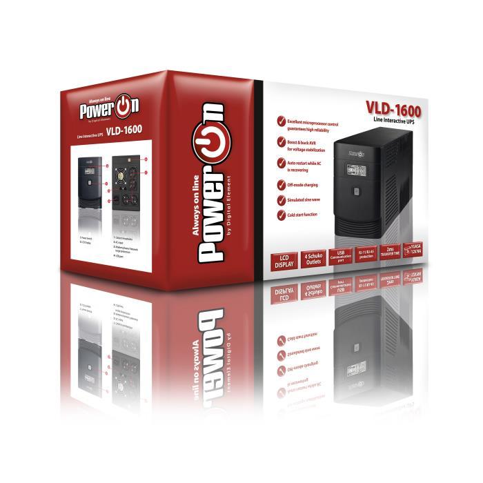 Ups 1600VA Power On VLD-1600