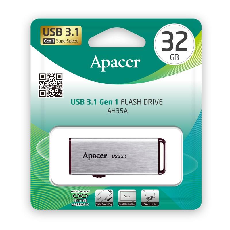 Usb 3.1 Gen1 Flash Drive 32GB Apacer AH35A Silver RP