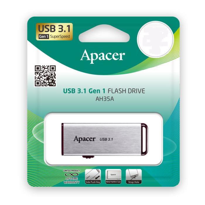 Usb 3.1 Gen1 Flash Drive 64GB Apacer AH35A Silver RP