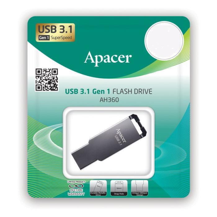 Usb 3.1 Gen1 Flash Drive 32GB Apacer AH360 Ashy RP