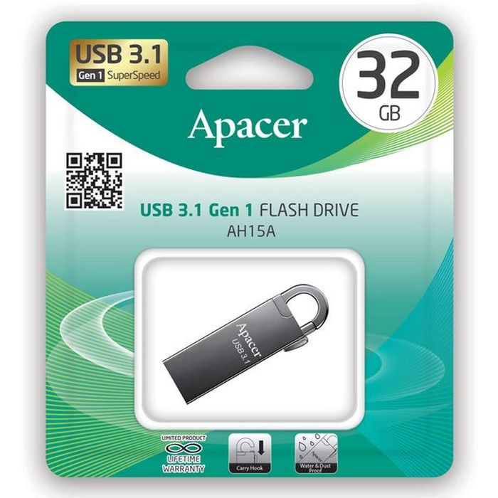 Usb 3.1 Gen1 Flash Drive 32GB Apacer AH15A Ashy RP