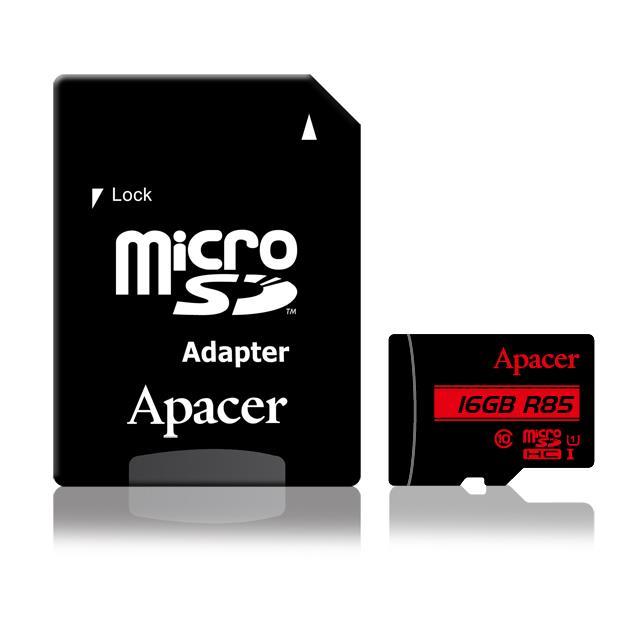 Memory Card Micro SDHC UHS-I U1 Class10 16GB Apacer R85