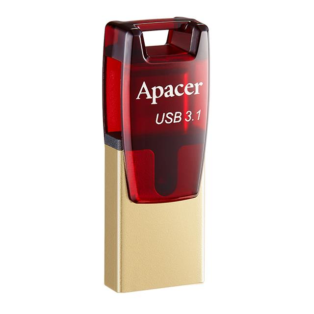 USB 3.1 Gen & Type-C Dual Flash Drive AH180 64GB Red RP