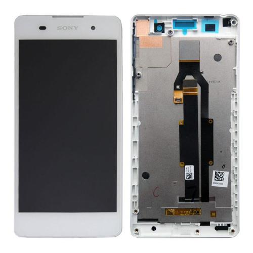 LCD with Touch Screen & Front Cover Sony Xperia E5 White (Original)
