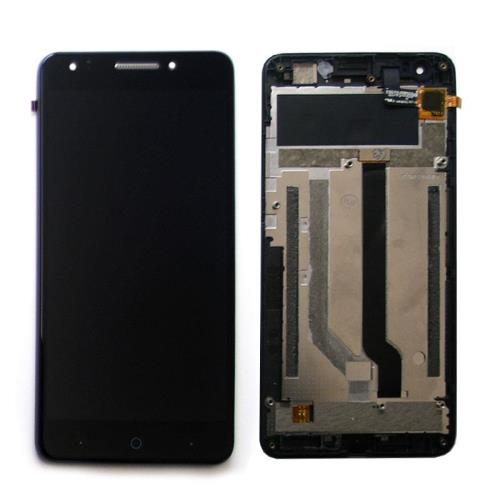 LCD with Touch Screen & Front Cover ZTE Blade A570 Black (OEM)