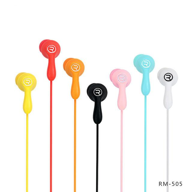 Earphone Remax RM-505 Yellow with microphone