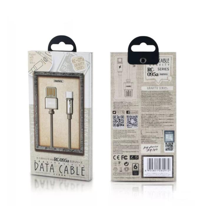 Charging Cable Remax Magnetic TYPE-C Gold 1m Gravity RC-095a