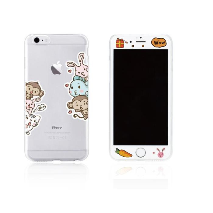 Tempered Glass WK for i7 + 3D TPU Case WTP003/ML004