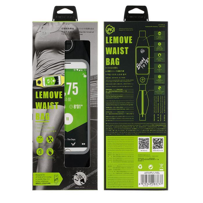 Lemove Waist Bag WK Black WT-B08