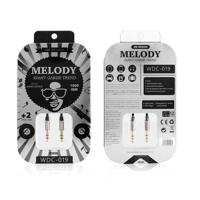 Cable WK Melody Aux (DC 3.5 to 3.5) WDC-019 Black
