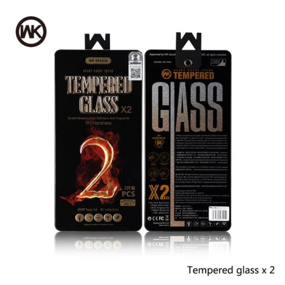 Tempered Glass WK (2pcs set) for iPhone 8 plus