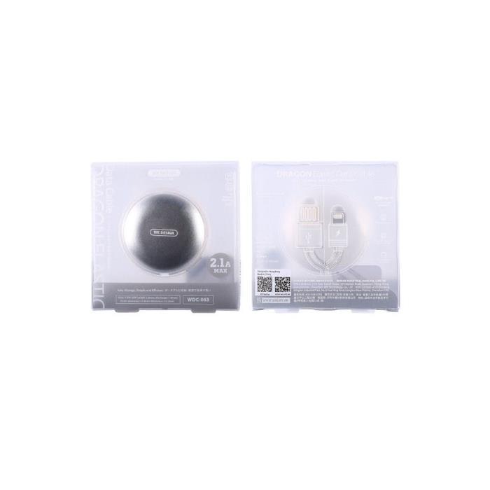 Charging Cable WK TYPE-C Black 1m Dragon Elastic WDC-063
