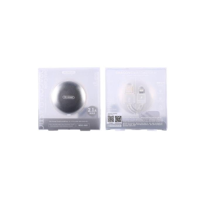 Charging Cable WK Micro/i6  White 1m Dragon Elastic WDC-063