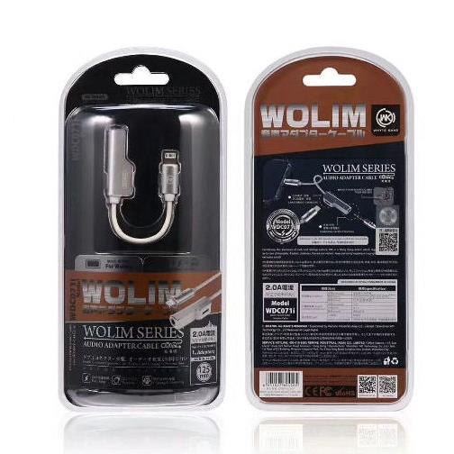 Adaptor Lightning to 3.5mm Female Black WDC-071i