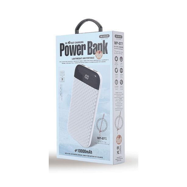 Fast Charging Power Bank WK 10000mAh SUTEN White WP-077
