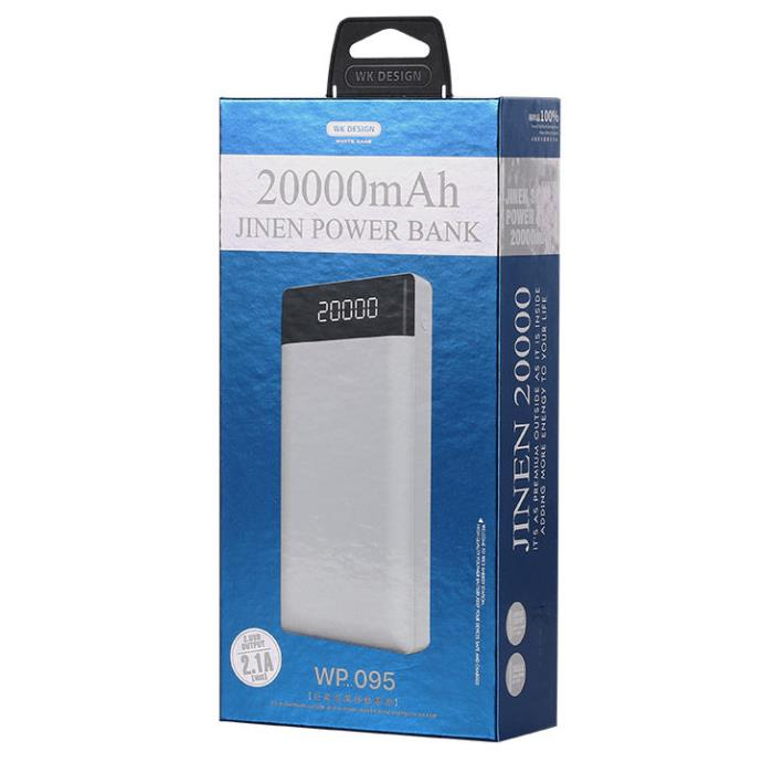 Power Bank WK 20000mAh JINEN White WP-095