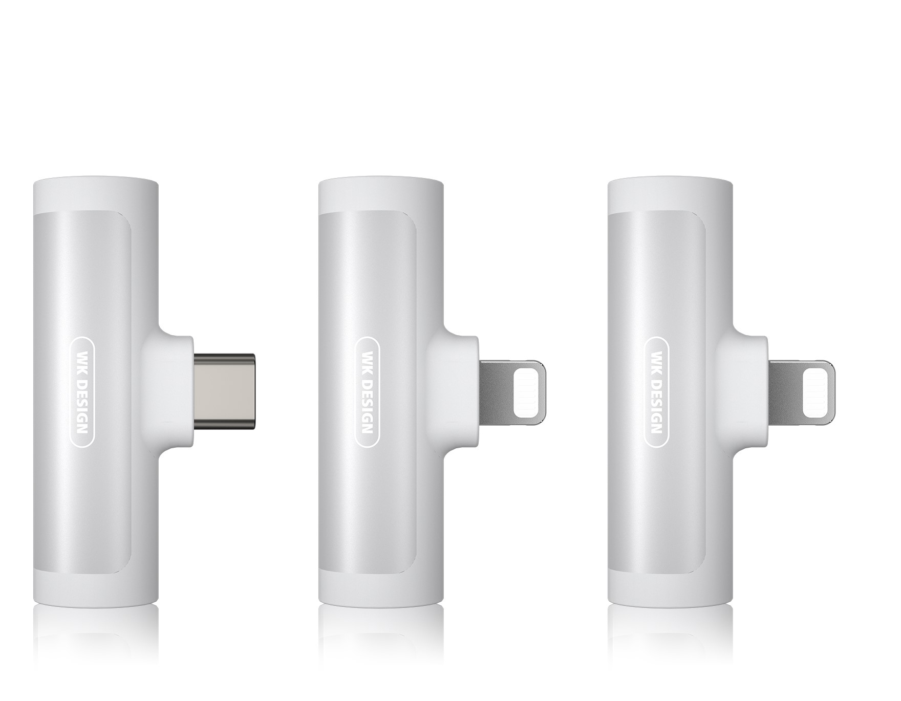 Adaptor Type C 2in1 3.5mm & Type C WDC-094a White