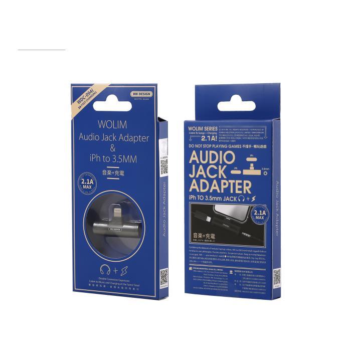 Adaptor 2in1 Lighting to 2xFemale Lighting WDC-094i Black