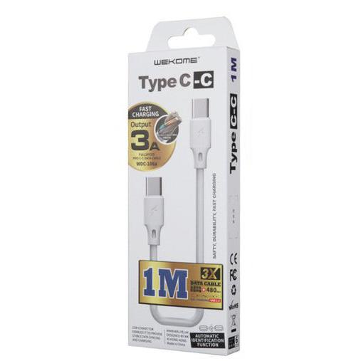Charging Cable WK TYPE-C/TYPE-C White 1m Full Speed WDC-106