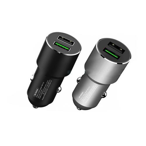 Car Charger WK Dual USB 2.4A & QC3.0 Black WP-C21