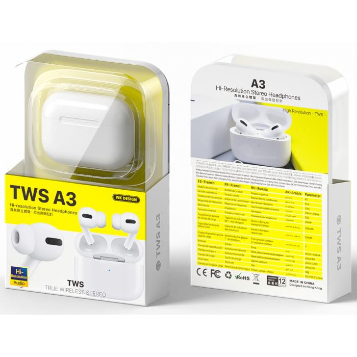 Earphone TWS WK BT A3 White
