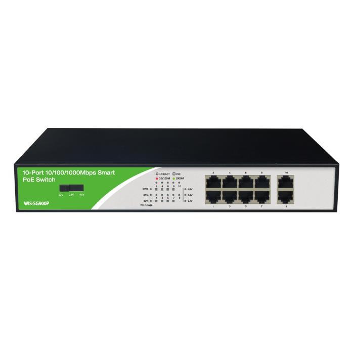 Gigabit 10port Switch PoE Wis-SG900P