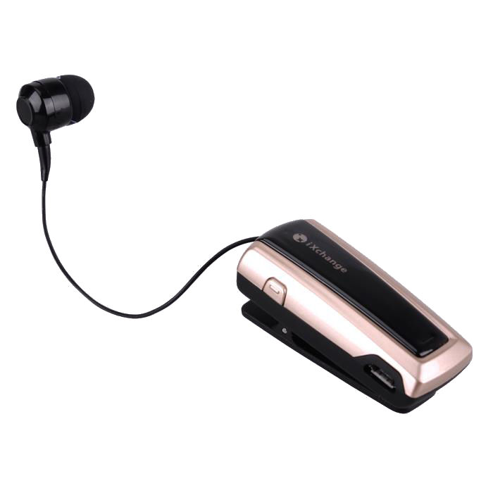 Retractable BT Mini Headset UA24 Gold iXchange