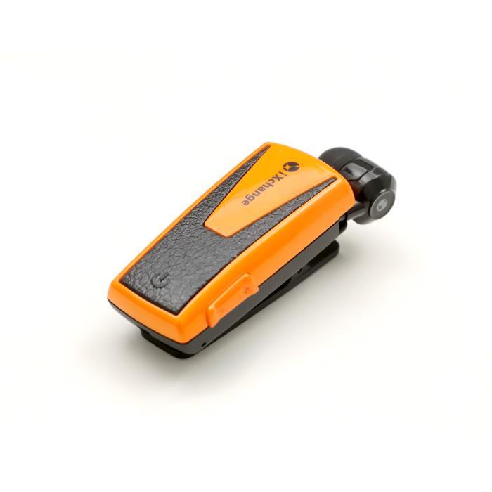 Retractable BT Headset w App UA42QT-V Orange iXchange