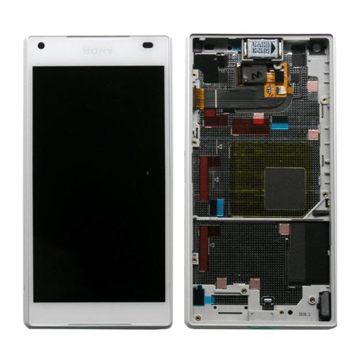 LCD with Touch Screen & Front Cover Sony Xperia Z5 Compact White (Original)