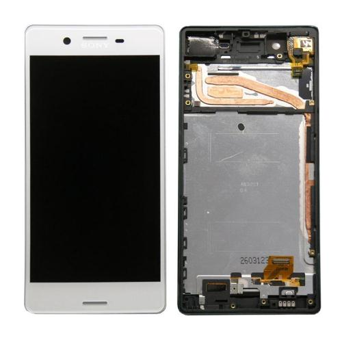 LCD with Touch Screen & Front Cover Sony Xperia X White (OEM)