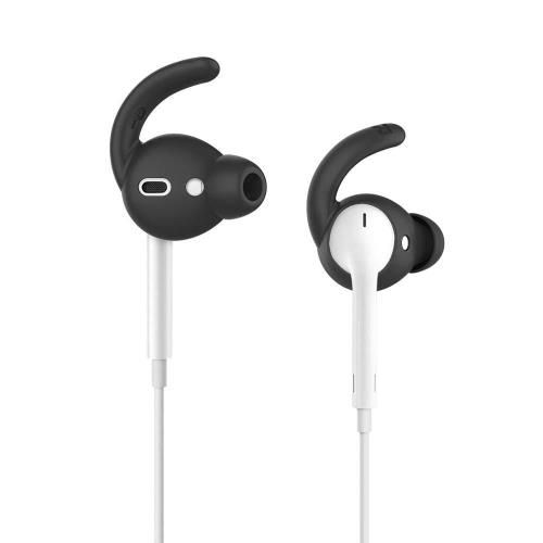Silicon Earhooks with Case AhaStyle EarHook PT40 Apple EarPods & Airpods Black