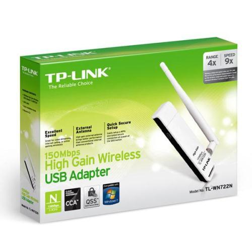 TP-LINK Wireless Lan Card TL-WN722N, 150Mbps USB v3.2