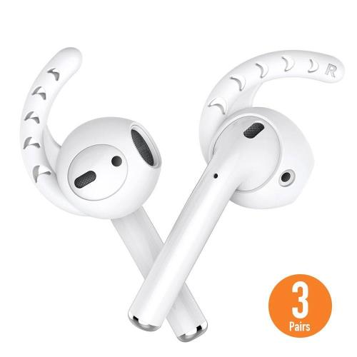 Silicon Earhooks AhaStyle PT14 Apple EarPods & Airpods Comfort White (3 pairs)