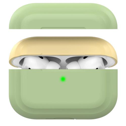Silicon Case AhaStyle PT-P2 Apple AirPods Pro DuoTone Green-Yellow
