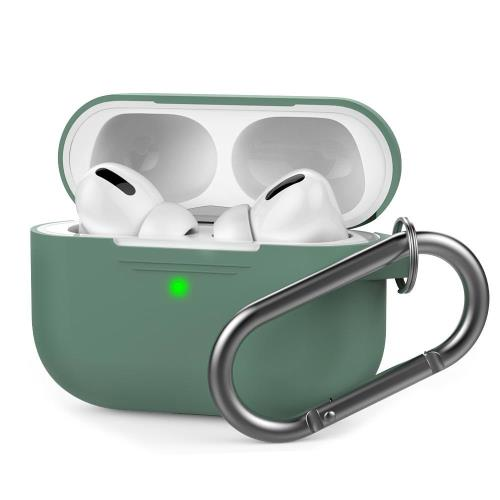 Silicon Case AhaStyle PT-P1 Apple AirPods Pro Premium with Hook Midnight Green 1